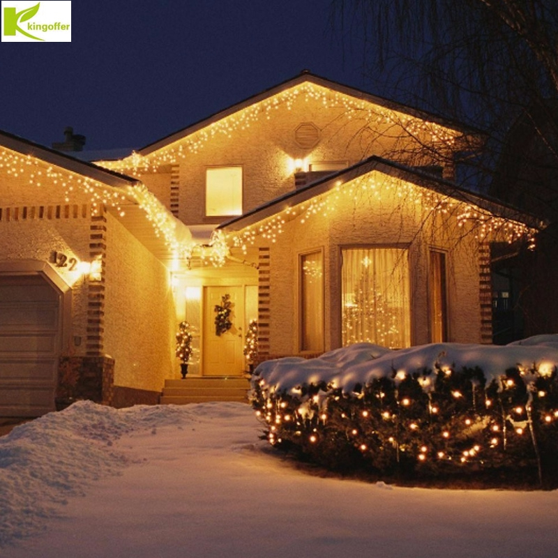 4M drooping 0.4-0.6m 96 Led curtain lamp icicle string lights Christmas New Year wedding party garland outdoor decoration lamp converse converse m3494 m