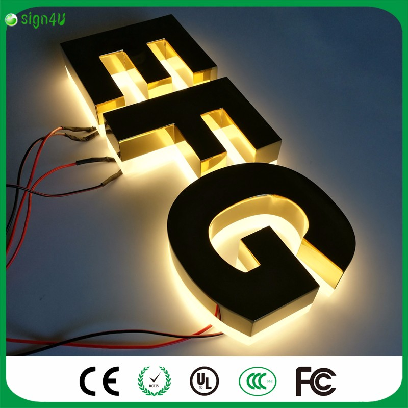 Factory Outlet Outdoor advertising halolit font b LED b font font b 3D b font stainless