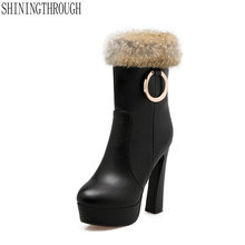 NEW women boots sexy ankle boots winter warm snow boots high heels boots woman office ladr dress shoes