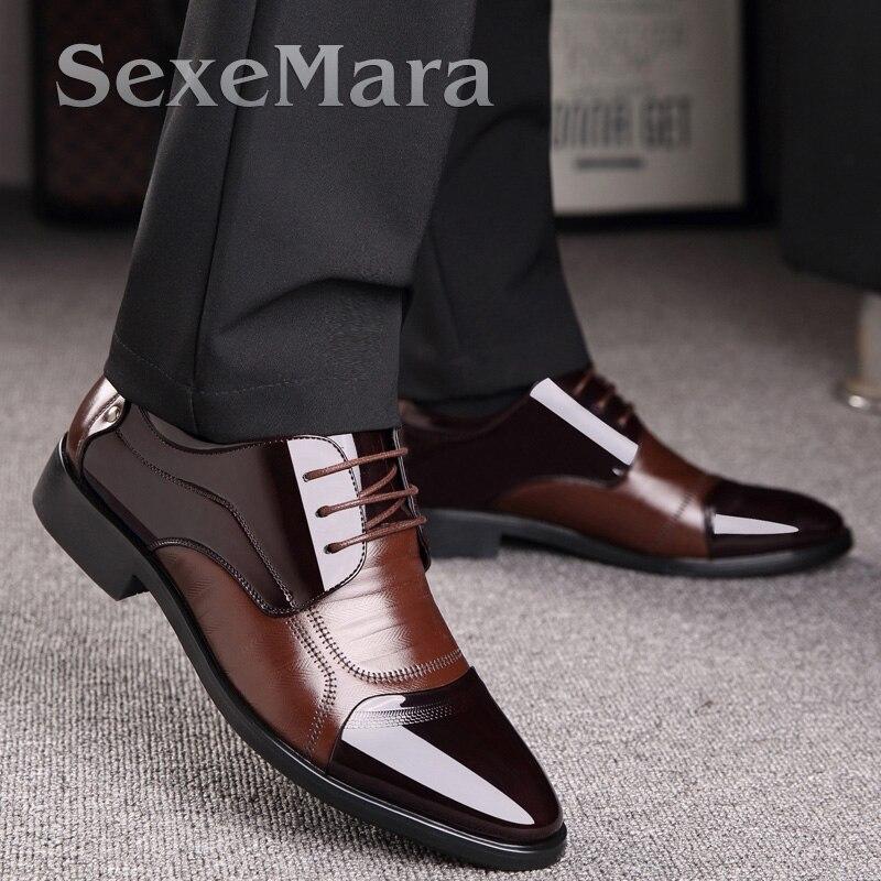 2017 Nueva Primavera de La Moda de Oxford Hombres de Negocios Zapatos de Cuero G