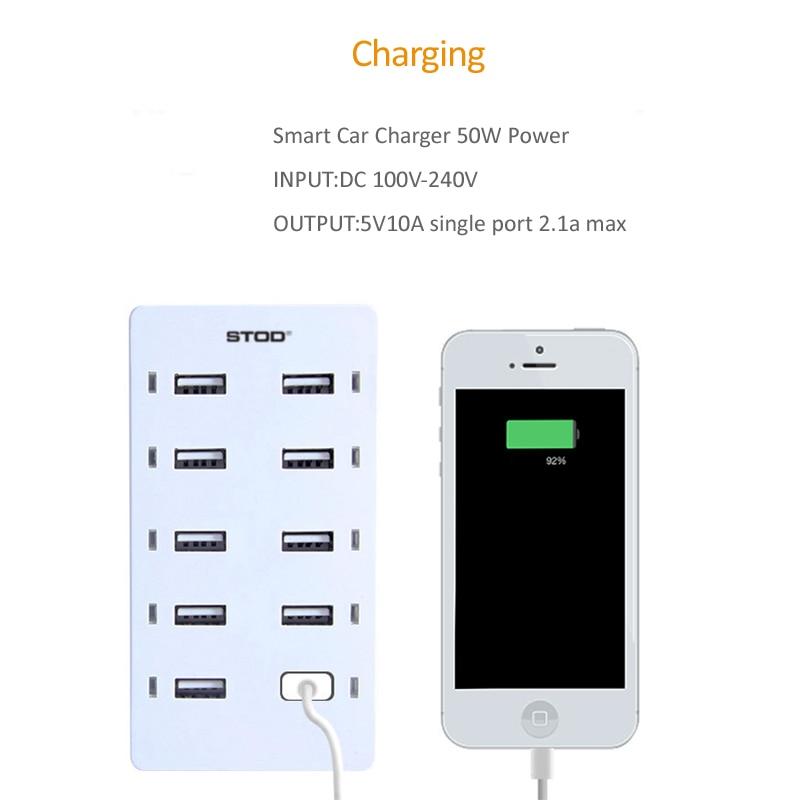 STOD Multi Port USB Charger 50W LED թեթև լիցքավորման - Բջջային հեռախոսի պարագաներ և պահեստամասեր - Լուսանկար 4