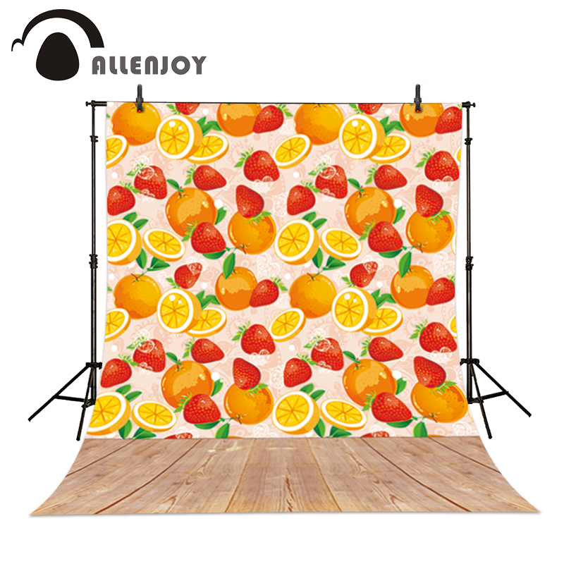 Allenjoy Professional photography background Oranges orange strawberry wood newborn baby shower high quality 8x8 10x20 fashion blood oranges