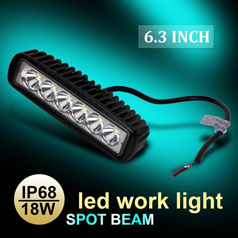 6 3 18W LED Work Light High Power 5D PC Lens Spot Beam Lamp 6000K IP68