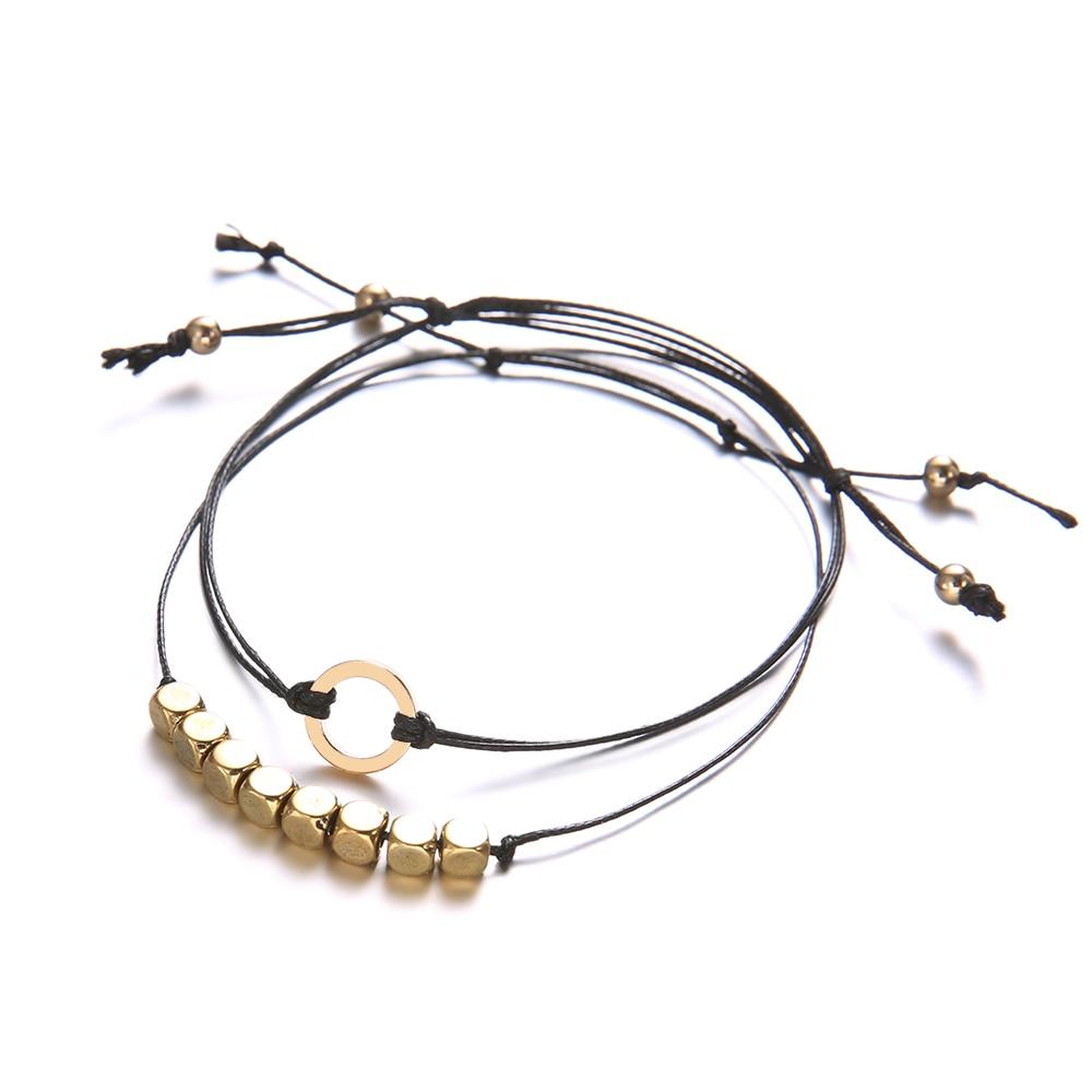 2-unids-set-Boho-geometr-a-multicapa-pulseras-para-las-mujeres-Cadena-de-cuerda-colgante-de