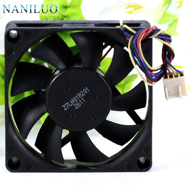 NANILUO Free Shipping For  DSSC0715R2L, P002 DC 12V 0.3A 4-wire 4-pin Connector 100mm 70x70x15mm Server Square Cooling Fan