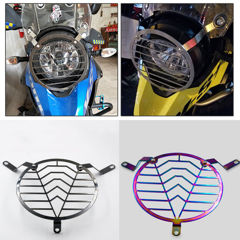 Motorcycle Headlight Grill Cover Head Light Protection HeadLamp Guard For SUZUKI DL250 DL 250 CNC