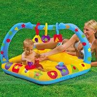 Schöne Tragbare Aufblasbare Platz Schwimmwasser-pool Heimgebrauch eltern-kind InteractionPlayground Piscina Bebe Badewanne A024