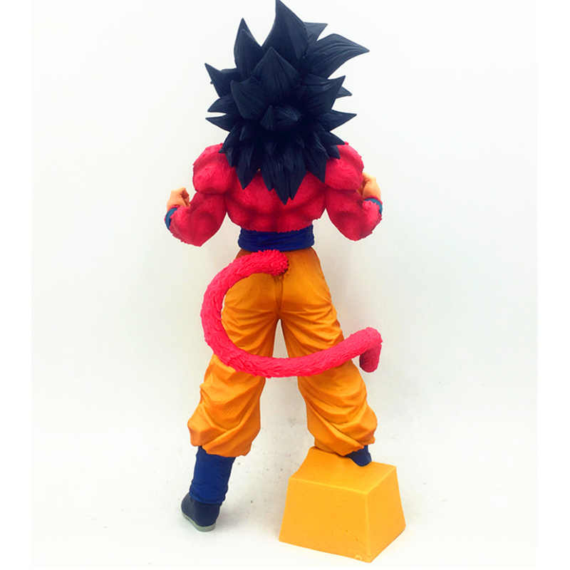 Animação Dragon Ball Son Goku Super Saiyan 4 Explosão gas Limited Edição PVC Action Figure Collectible Modelo Toy Box- embalado