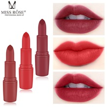 Hot Sexy Red Lips Matte Velvet Lipstick Pencil Cosmetic Long Lasting Lip Tint Pigment Makeup Nude Brown stick