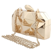 2019 new fashion women's bag diamond hand grasping handbags personality trend single shoulder Messenger bag chain evening bag