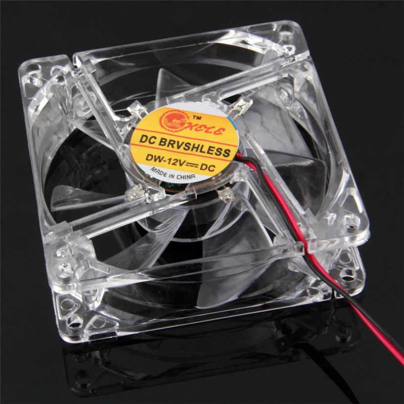 Заводская цена BinmerColorful Quad 4-светодиодный неоновый прозрачный 80 мм компьютерный корпус для ПК Вентилятор охлаждения мод Прямая доставка Оптовая продажа