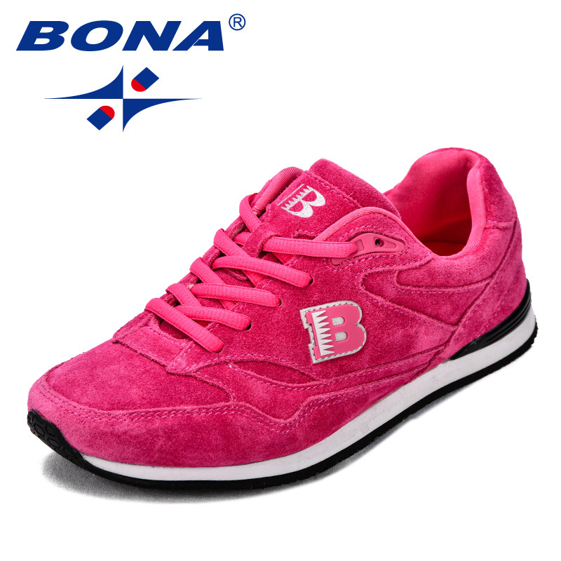 Image 4 - BONA New Classics Style Women Running Shoes Suede Leather 