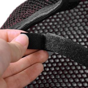 Image 4 - Uxcell M الحرارة مقاومة تنفس مقعد دراجة هوائية 3D شبكة غطاء أسود الأحمر صالح لل دراجات النارية