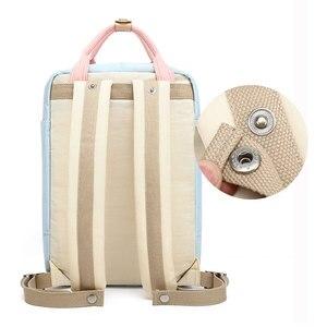 Image 3 - Junior High uczeń plecak płócienny wielokolorowy nastolatek panie plecak podróżny moda dziewczyny plecak Feminina