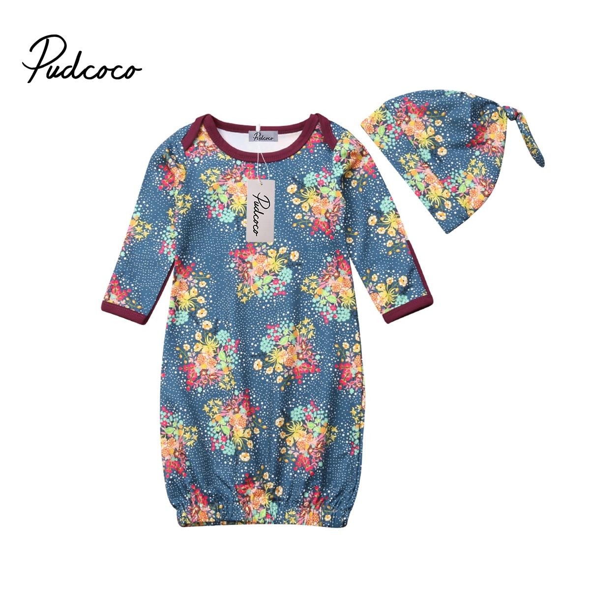 Pudcoco 2018 Nieuwe Tollder Kid Baby Kleding Pasgeboren Baby Meisje Jongen Inbakeren Wrap Deken Mousseline Bloemen Slaapzak + Hoed Cx