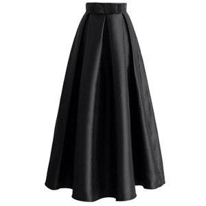Image 2 - Jupe plissée longue pour femmes, robe Abaya, mode musulmane, vêtements taille haute, collection décontracté