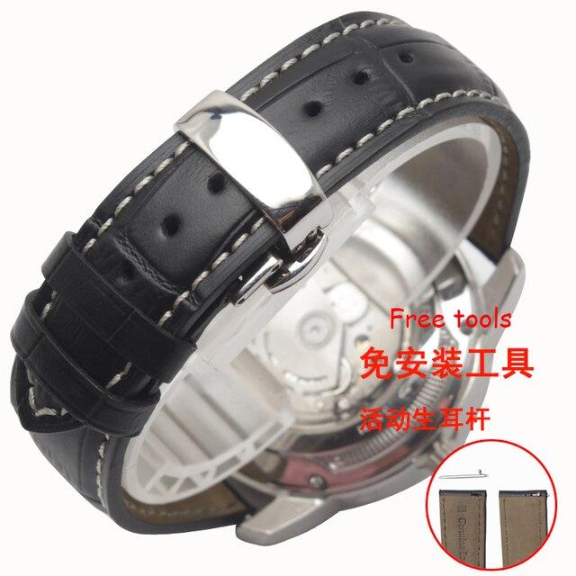 20mm 22mm correa de piel genuina para samsung gear s2 s3 smart watch correa de pulsera