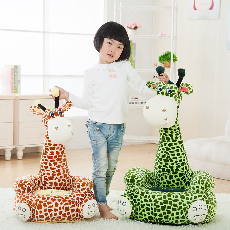 Sweet Giraffe Baby plush toys Cartoon Stuffed Plush Animals Feeding Chair Seat For Children Furniture Baby Floor Seat Sofa [yamala] baby plush toys portable seat kids feeding chair booster seat education feeding seat baby toy page 2