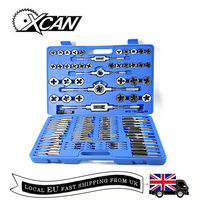 XCAN 110PC M2 M18 Metric Thread Tap and Die Set Hand Tool Tap Wrench Die Set