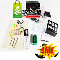 Cheap Tattoo Gun Kit 1 Pro Coil Tattoo Machine Gun Power Supply Foot Pedal Needles Grip