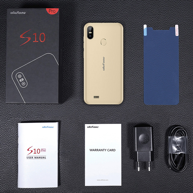 Ulefone S10 Pro Mobile Phone 5.7 inch 19:9 MT6739WA Quad Core 2GB RAM 16GB ROM 13MP+5MP Unlock Android 8.1 4G Smartphone