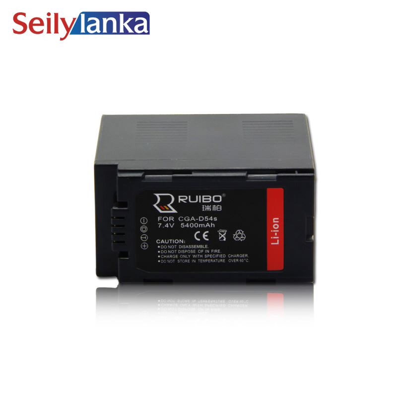 5400mAh for Panasonic CGR D54S D54D AG DVX200 FC100MC Camera HC PV100 MDH2 7.4V Camcorder battery NV DS60A NV MX350 VDR M10