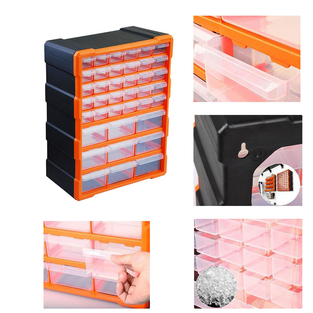 39 Multi Drawer Storage Cabinet Organiser TOPIND Plastic Parts Storage Wall  Mount Hardware Storage Cabinet For Home Garage DIY  In Fishing Tackle Boxes  From ...