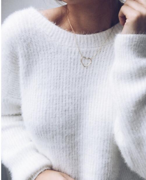 2018 Autumn And Winter New Women Sweater Female Explosion Models Europe Sexy Back Deep V-neck Open Back Pullovers