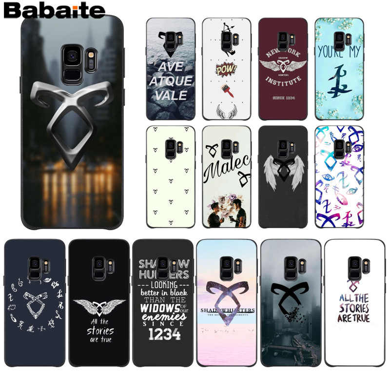 Babaite shadowhunters Coque Shell Caixa Do Telefone para Samsung S9 S9 plus S5 S6 S6edge S6plus S7 S7edge S8 S8plus