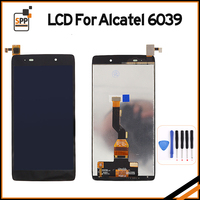 100% Original LCD Display Touchscreen Digitizer Assembly Ersatz Für Alcatel OT6039 One Touch Idol 3 6039 6039Y Schwarz + werkzeug