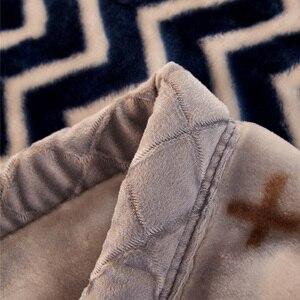 Image 4 - Winter Warme Raschel Decke Tier Pferd Gedruckt Bett Cobertor Doppelschicht Königin König Größe Dicke Weiche Nerz Decken