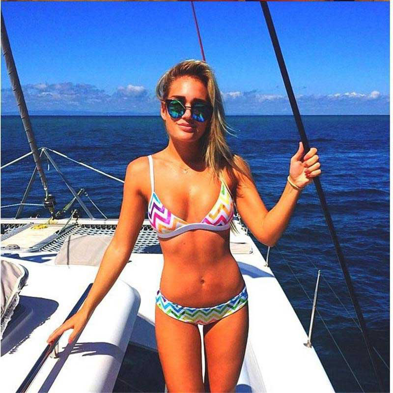 2017 new printing swimsuit female European and American  sexy bikini swimsuit Agent Provocateur foreign trade wholesale f projector color wheel for optoma hd220 free shipping
