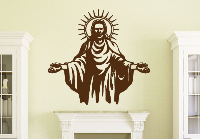 2015 Hot Sale Jesus Christ Decal Stickers Wall Papers Home