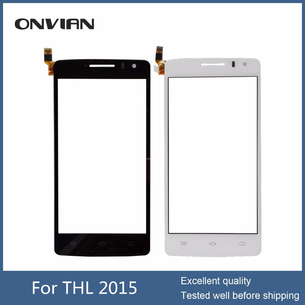 HIgh Quality for THL 2015 Touch Panel Front Glass Touch Screen Digitizer For THL 2015 Cell Phone Spare Parts