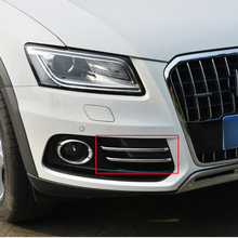 Free Shipping High Quality ABS Chrome Front Fog lamps cover Trim Fog lamp shade Trim For Audi Q5 цена 2017