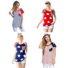 ecc6f122a21c 2018 4th Of July Women USA American Flag Print Tank Crop Tops T-Shirt New