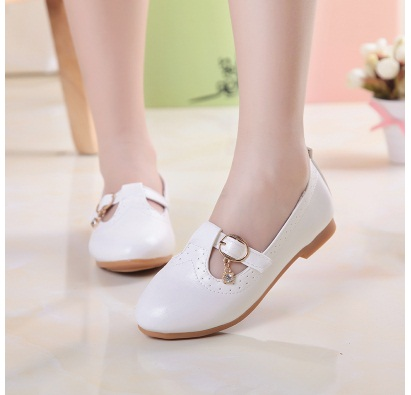 4COLOR SIZE26-36----2018 Autumn chidlren leather shoes girls single shoes dance shoes for girls flat shoes kids sneakers
