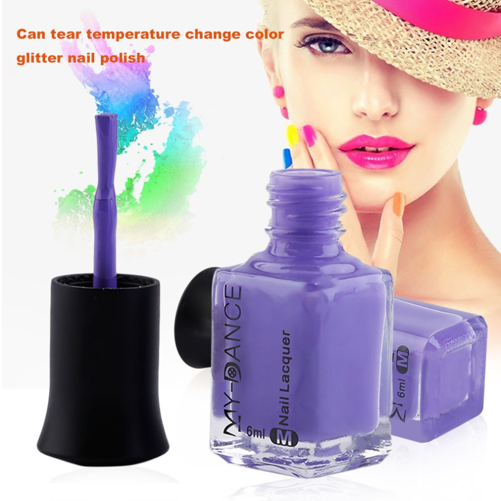 Color change online - New Arrival 6ml Color Changing Thermal Nail Polish Peel Off Varnish Temperature Controlled Color Nail Polish