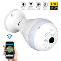 960P 360 Degree Panoramic Led E27 Bulb Light Smart Wireless Phone APP Control CCTV 3D VR Camera WiFi FishEye Lamp Home Security