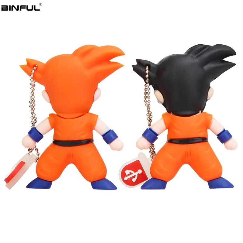 Image 2 - Cartoon Goku Usb Flash Drive 32GB 64GB 128GB High Quality Pen Drive 4GB 8GB 16GB Usb Stick Super Saiyan Pendrive Free Shipping-in USB Flash Drives from Computer & Office