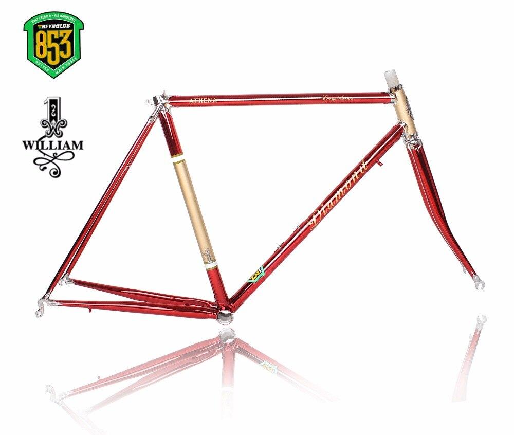 Рейнольдс 853 Луг рама хром-молибденовая рама шоссейный велосипед Гоночная рама в рамке выравнивание дизайн винтажная рама велосипеда