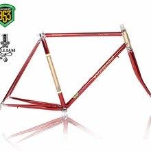 Cuadro de bicicleta de carretera con marco de cromo-Molibdeno para bicicleta de carretera, marco de bicicleta Vintage con diseño de alineación de marco de 853
