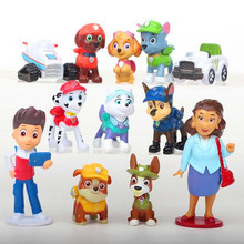 Paw Patrol Dog 12pcs/set Patrulla Canina Action Figures vinyl doll Toy Kids Children Toys Gifts paw patrol toys command center control tower series patrulla canina music headquarters action figures toys for children gifts