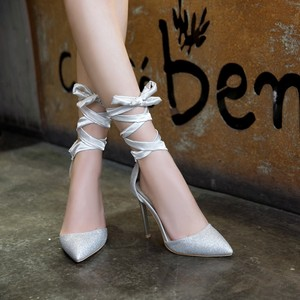 Image 3 - Женские туфли на высоком каблуке, туфли лодочки больших размеров 11, 12, 13, 14, 15, 16, 17, обувь на тонком каблуке с острым носком и ремешком