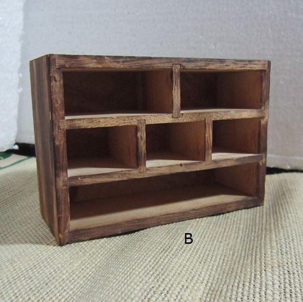 Antiguo Gabinete de madera Muebles artesanía Knick modelo mini seis ...