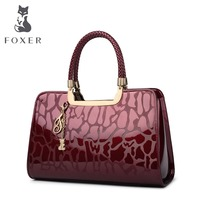Foxer Brand Shoulder Bag Luxury Tote Handbags Women Cow Leather Bags Female Tote