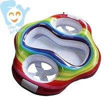 Надувные двойные детские надувные изделия для плавания, сиденья, игрушки для бассейна