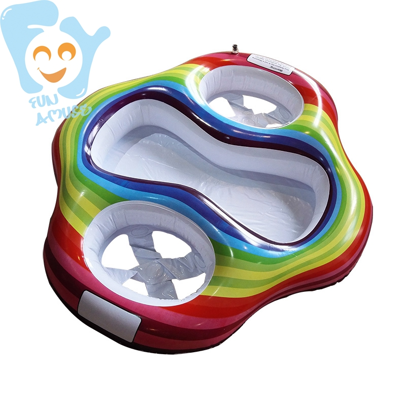 Inflatable Twin Baby Double Swim Float Seat Water Fun Toys Pool Floats