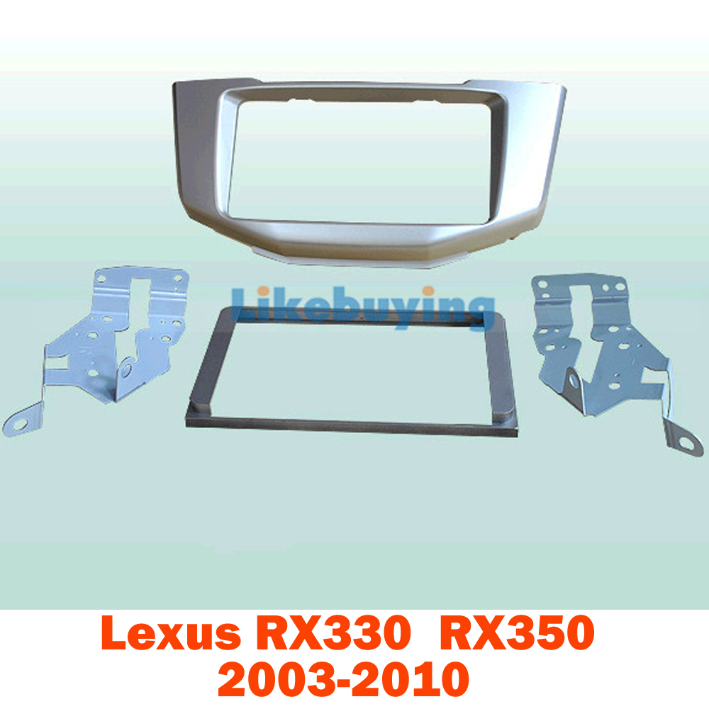 2 Din Car Fascia Panel Frame / Audio Panel Frame / Car Frame Dash Kit For Lexus RX330 RX350 2003-2010 Retail / Pcs Free Shipping 2 din car refitting frame panel for jaguar s