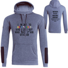 New fashion brand printing 2019 sportswear hoodies mens sweatshirt high quality plus velvet pullover